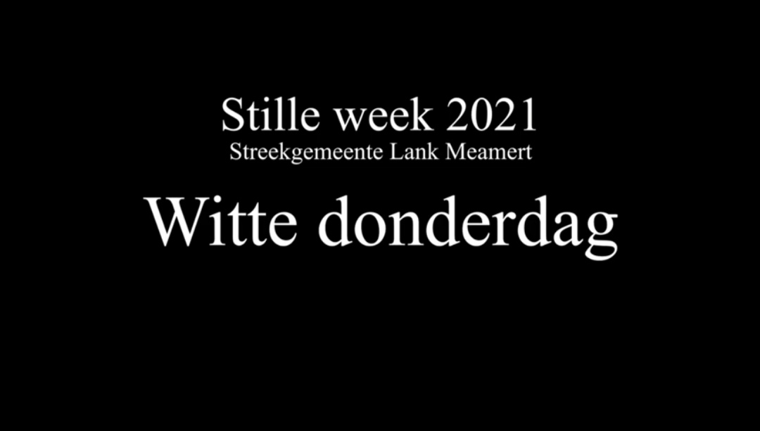 Video kerkdiensten stille week